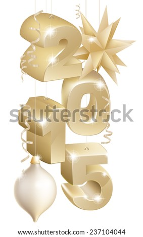gold christmas or new year 2105