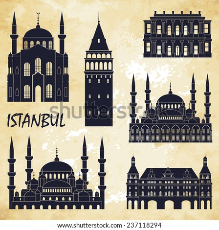 istanbul vector illustration