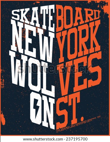 new york skater graphic design