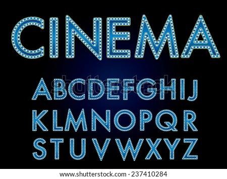 vector cinema font