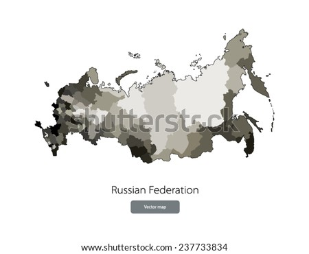 map of russian federation with