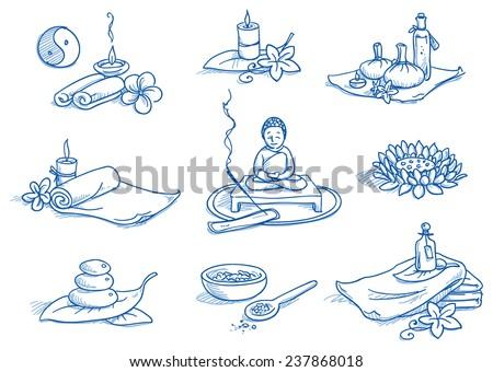icon set wellness  spa