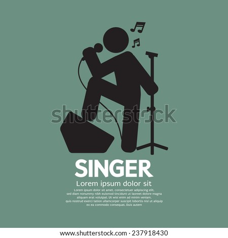 standing singer black graphic