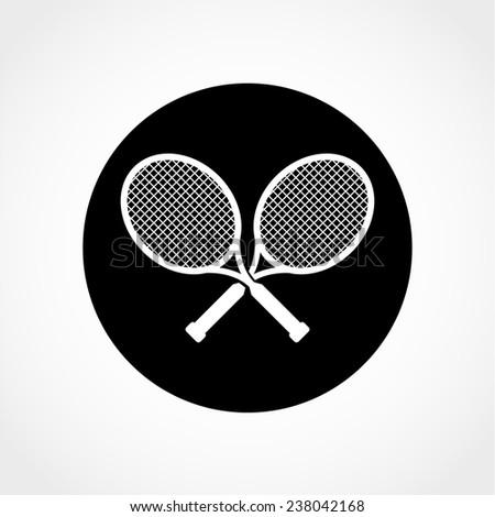 sport symbol tennis rackets