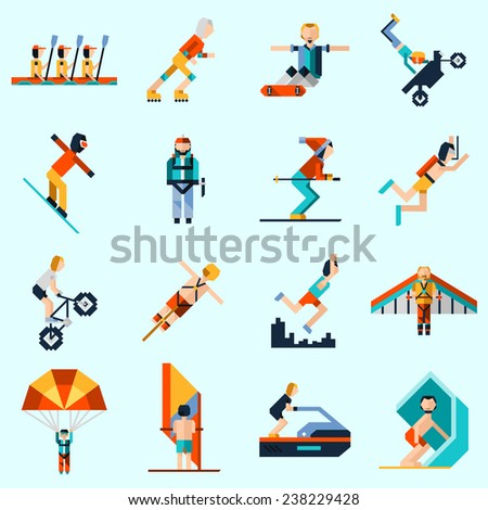 extreme sports decorative icons