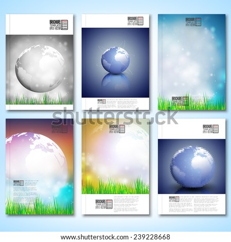 abstract world globe background
