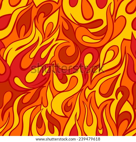 fire flame seamless pattern