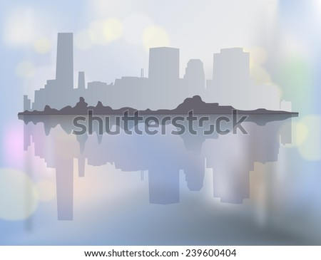 city landscape with buildings