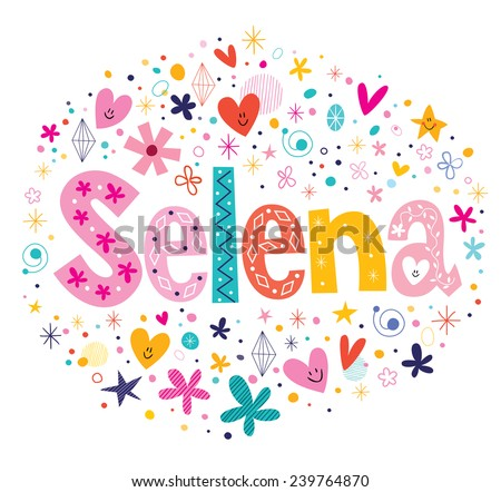 selena female name decorative