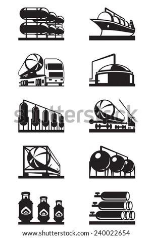 gas tank terminals   vector