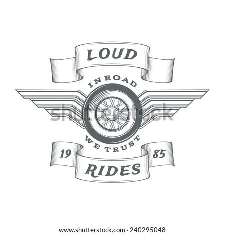 vintage heraldic motorcycle