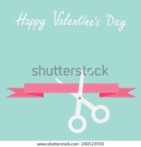 scissors cut decorative pink