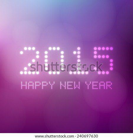 happy new year 2015  purple