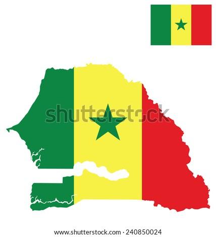 flag of the republic of senegal