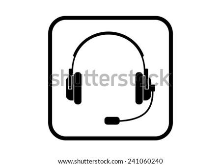 headphones icon on white