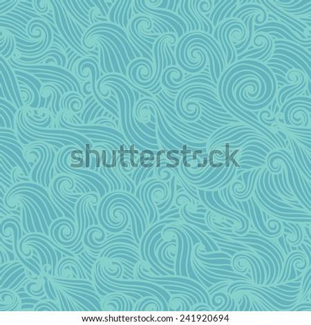 wavy seamless pattern hand
