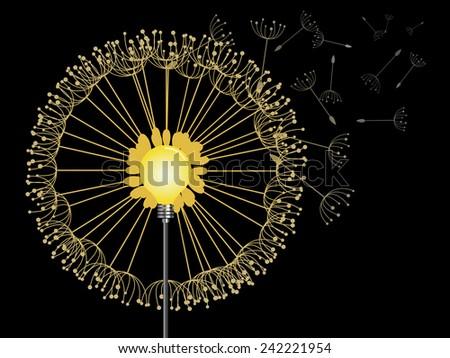 vector idea concept  dandelion