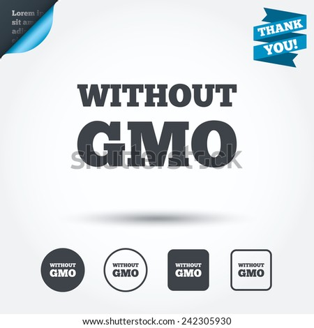 no gmo sign icon without