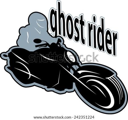 ghost motorbike rider