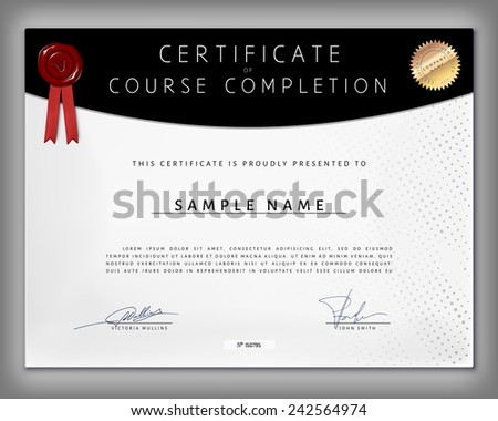 Sponsored  Computer Course Completion Certificate Format