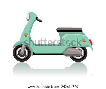 green scooter  vintage