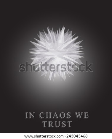 abstract object in black and
