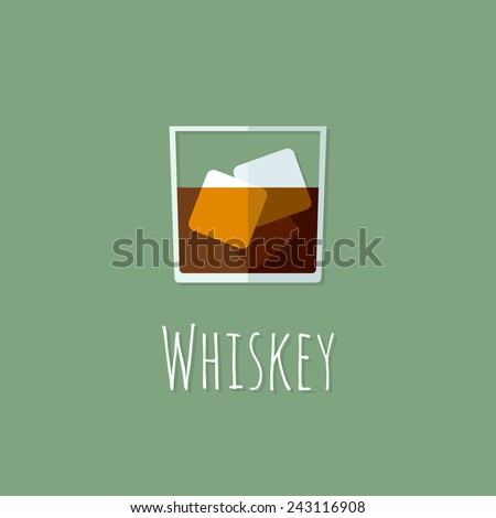 colorful whiskey icon vector