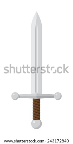 silver sword in flat design