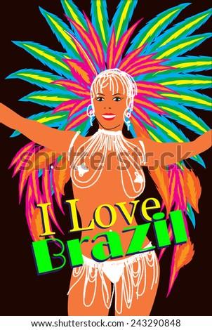 brazilian carnival woman samba