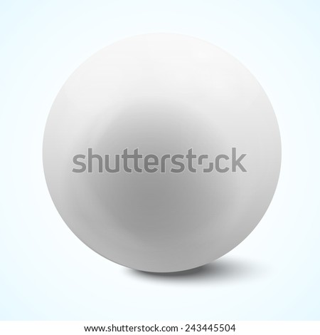white sphere isolated on