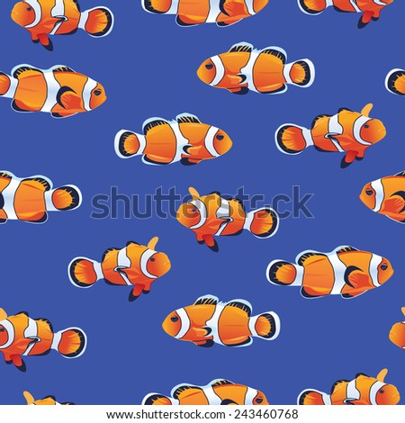 anemonefish  clownfish  blue