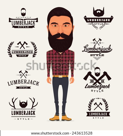 lumberjack character with
