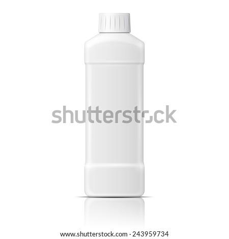 white plastic bottle template