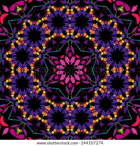 psychedelic 60s hippie floral