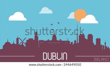 dublin ireland skyline