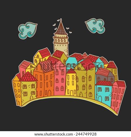 illustration of istanbul city