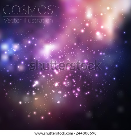 vector cosmos illustration with
