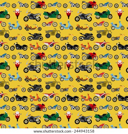 motorcycles background  pattern