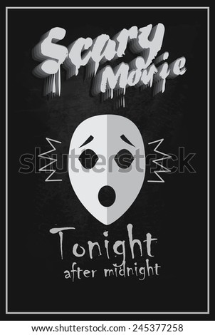 scary movie vintage poster