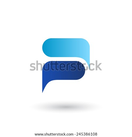 chat logo icon template vector