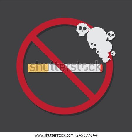 no smoking vector sign burning