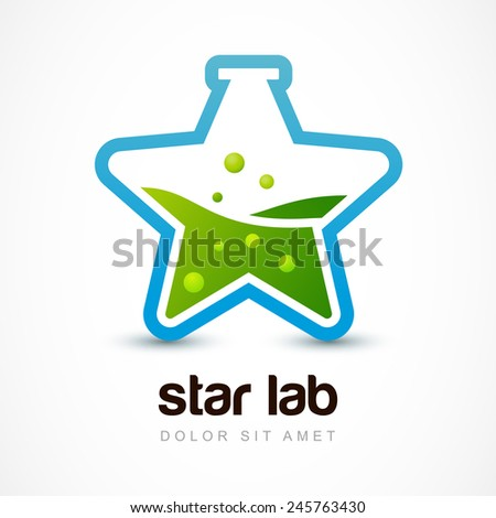 star shaped flask with liquid