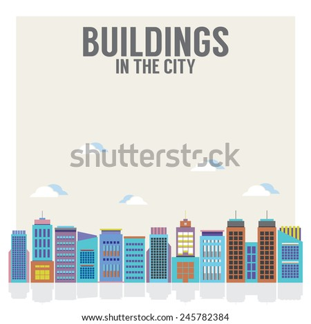 buildings in the city vector