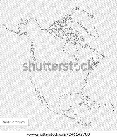 vector contour map of north