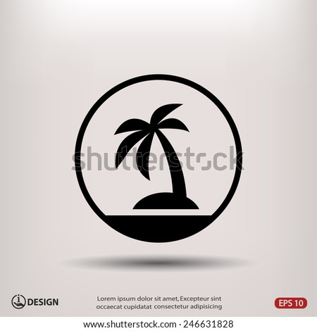 pictograph of island