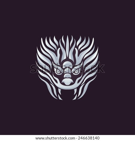 dragon logo vector design