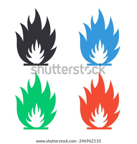 fire flames icon   colored