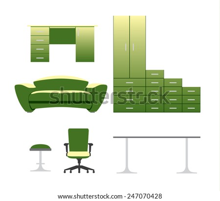 furniture vector set with