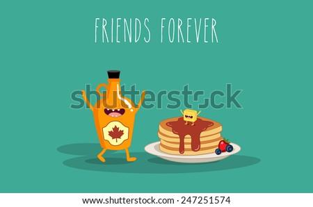 vector cartoon breakfast