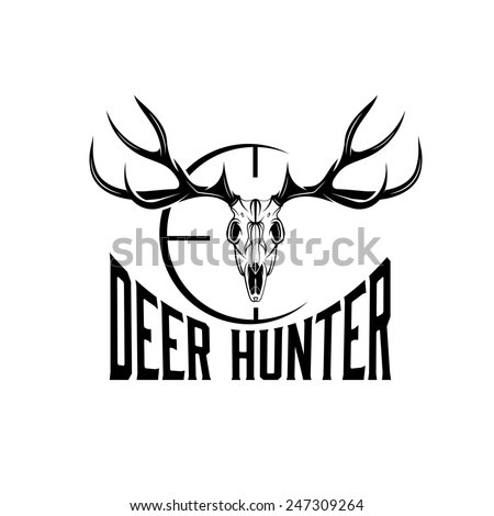 deer skull with target vector